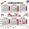 Disegno di Calendario 2014 da Luglio a Dicembre a colori