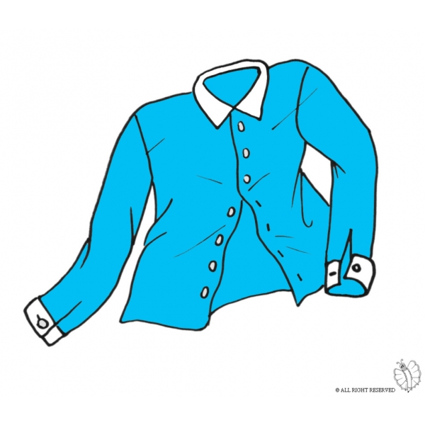 Disegno di camicia a colori per bambini - Immagini estive a colori ...