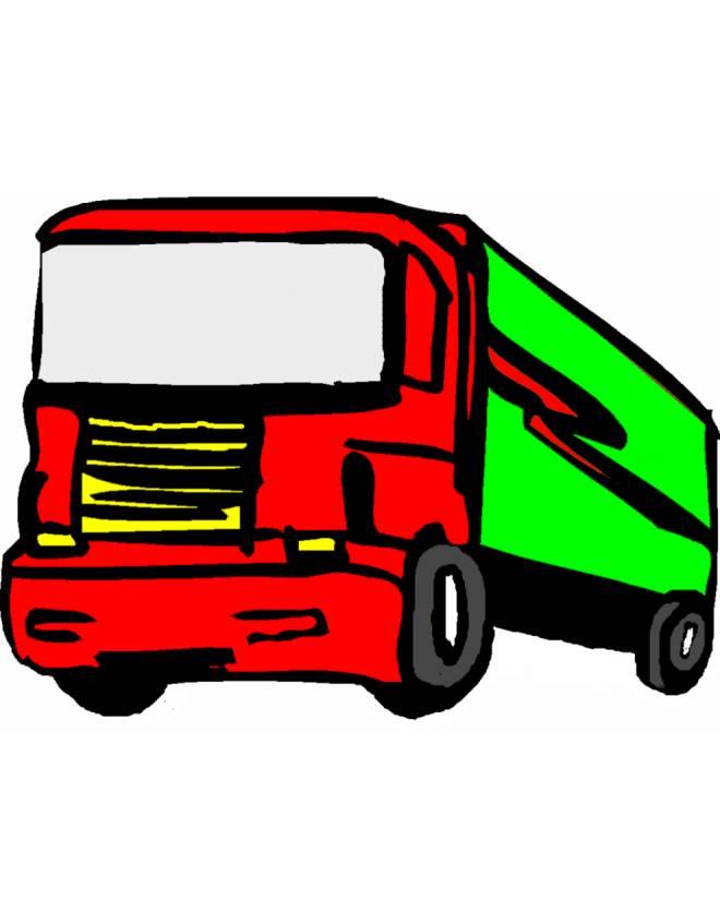 Disegno di camion a colori per bambini - Foto di grandi camion ...