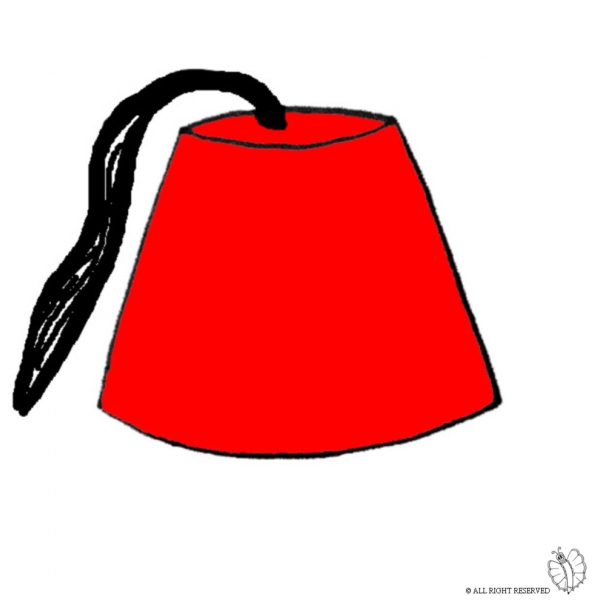 Disegno di Cappello Turco a colori