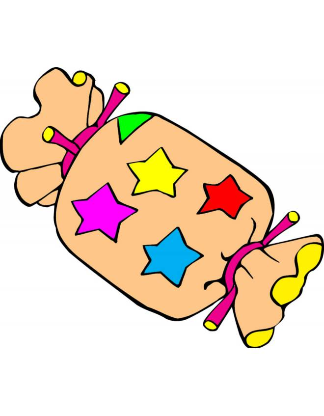 Disegno Di Caramella A Colori Per Bambini
