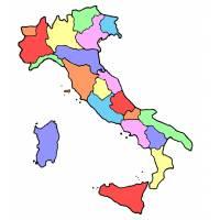Disegno di Cartina Italia a colori