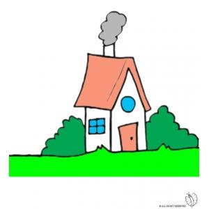 Disegno di casa nel bosco a colori per bambini gratis for Disegno casa bambini