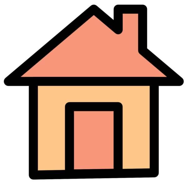 Disegno di casa a colori per bambini for Disegni e prezzi della casa