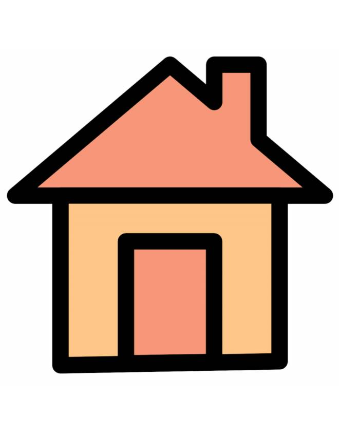 Stampa disegno di casa a colori - Casa a colori ...