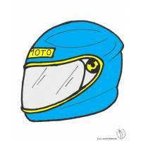 Disegno di Casco per Moto a colori
