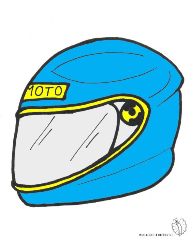Disegno di casco per moto a colori bambini