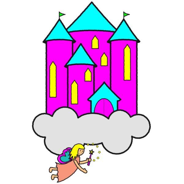 Disegno Di Castello Delle Fate A Colori Per Bambini