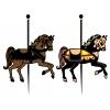 disegno di Cavalli sulla Giostra a colori