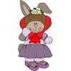 disegno di Coniglietta a colori