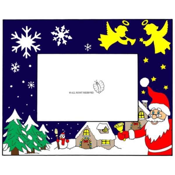 Disegno di Cornice di Natale Orizzontale a colori