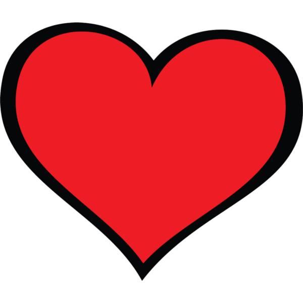 Disegno di cuore gigante a colori per bambini for Disegni di cuori da stampare gratis