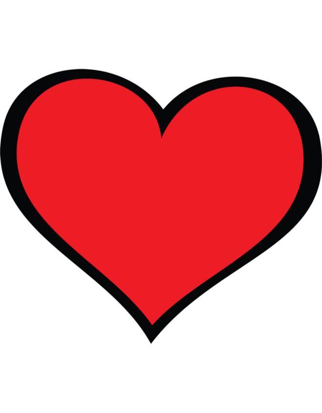Disegno di cuore con fiocco da colorare disegni di cuori for Disegni da colorare con cuori