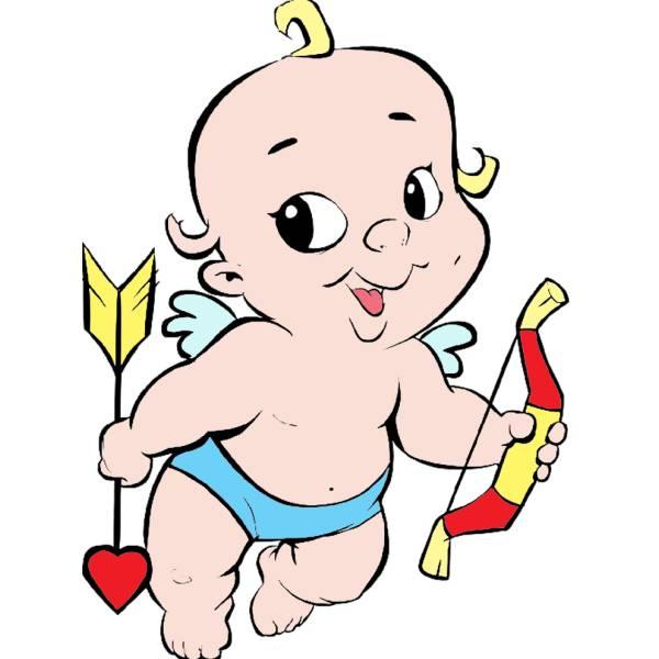 Disegno di Baby Cupido a colori