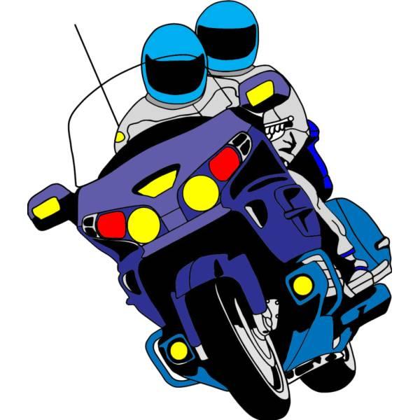 Disegno di Motociclisti a colori