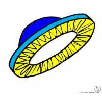 disegno di Disco Volante  a colori