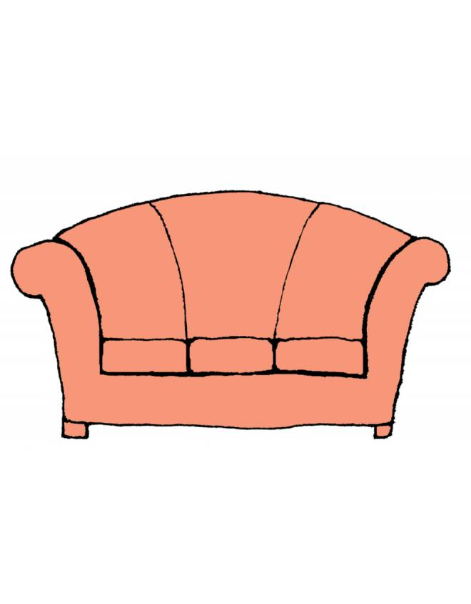 Disegno di divano a colori per bambini for Divano disegno
