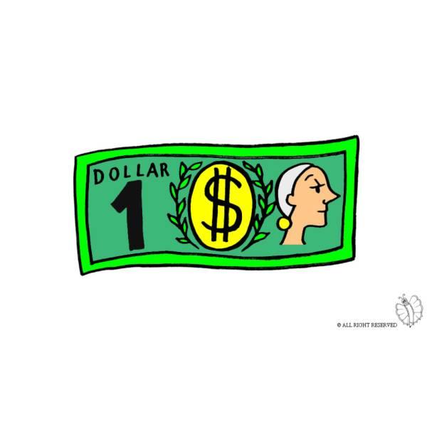Disegno di Dollaro a colori