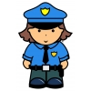 disegno di Donna Poliziotta a colori