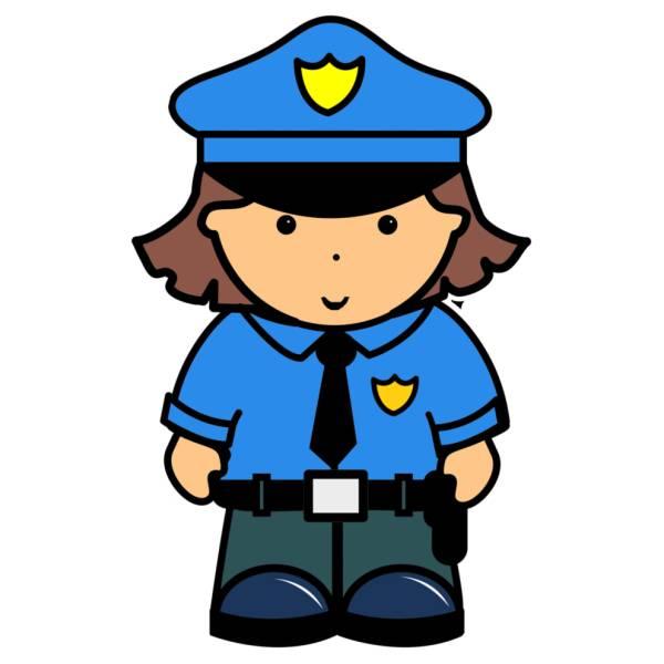 Disegni e colori di donna disegno di donna poliziotta a - Polizia ufficiale di polizia da colorare foglio da colorare ...