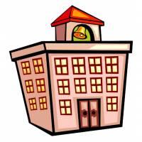 disegno di Edificio Scolastico a colori