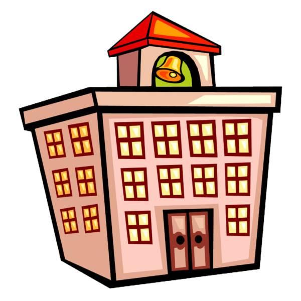 Disegno di edificio scolastico a colori per bambini for Disegno casa bambini