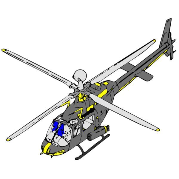 Elicottero Telecomandato Per Bambini : Disegno di elicottero a colori per bambini