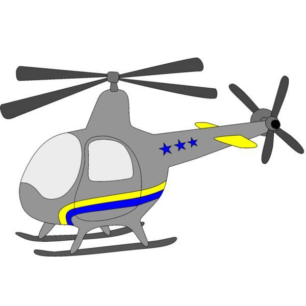 Elicottero Telecomandato Per Bambini : Disegno di piccolo elicottero a colori per bambini
