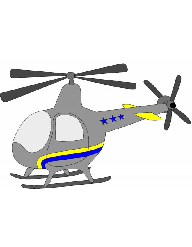 Elicottero Piccolo : Stampa disegno di piccolo elicottero a colori