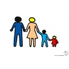 disegno di Famiglia unita a colori