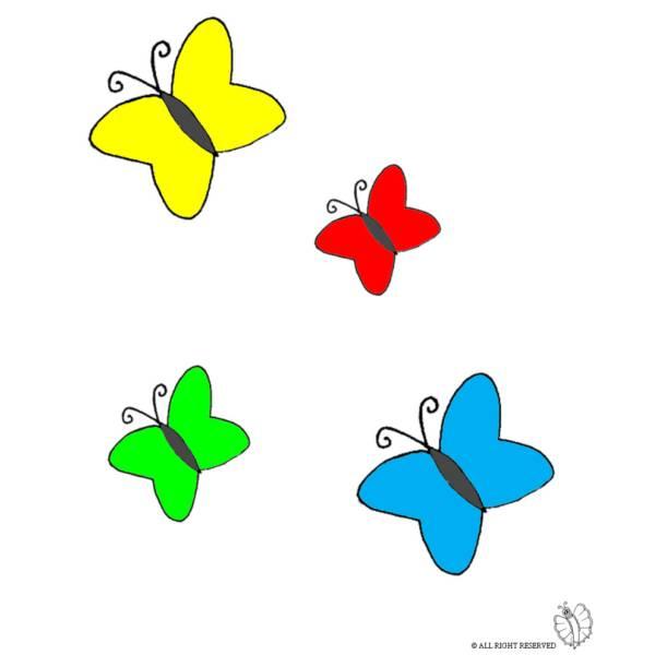 Disegno di Farfalle a colori