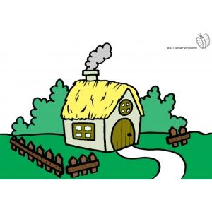 Disegno di fattoria a colori per bambini gratis for Disegno della fattoria americana