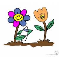 Disegno di Fiori Animati a colori