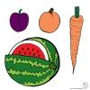 Disegno di Frutti  a colori