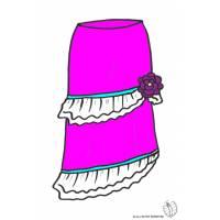 disegno di Gonna Lunga a colori
