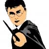 Disegno di Harry Potter a colori