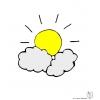 disegno di Il Sole e le Nuvole a colori