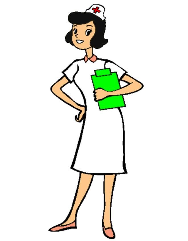 Disegno di infermiera a colori per bambini