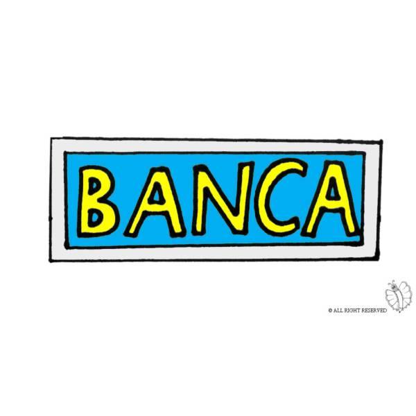 Disegno di Insegna Banca a colori