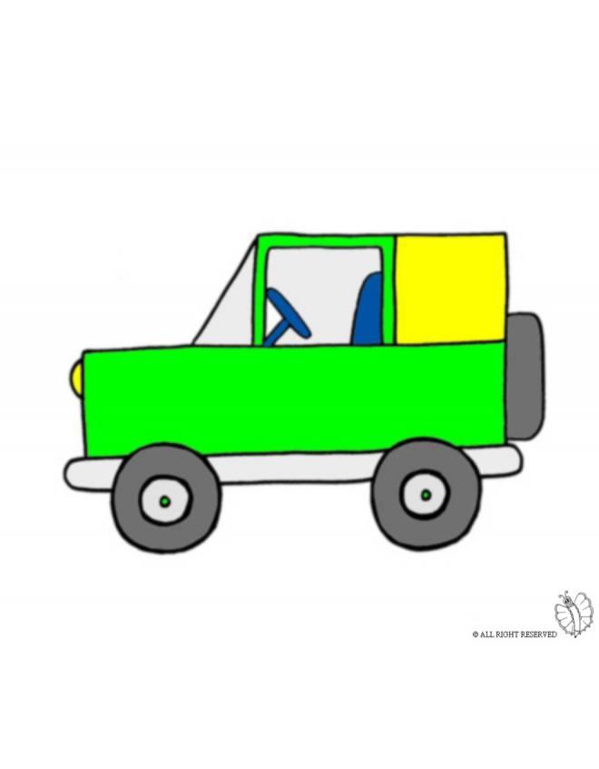 disegno di Jeep Fuoristrada a colori