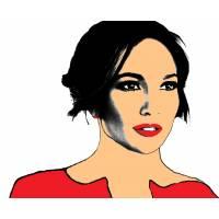 Disegno di Jennifer Lopez a colori
