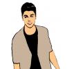 Disegno di Justin Bieber a colori