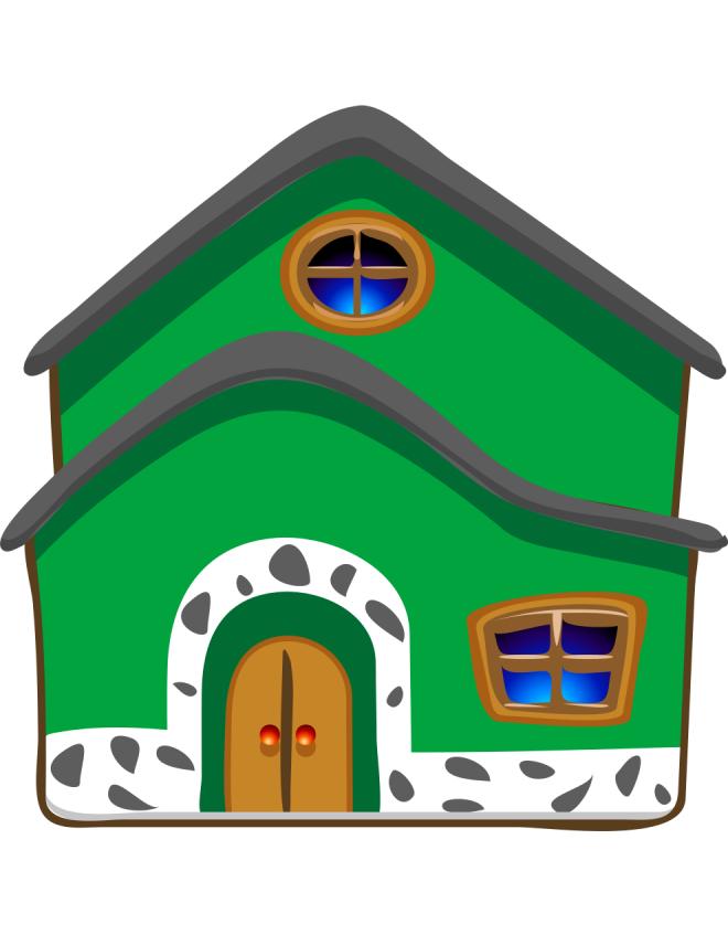 Disegno di la casa a colori per bambini for Bellissimi disegni per la casa