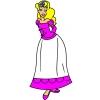 Disegno di Principessina a colori