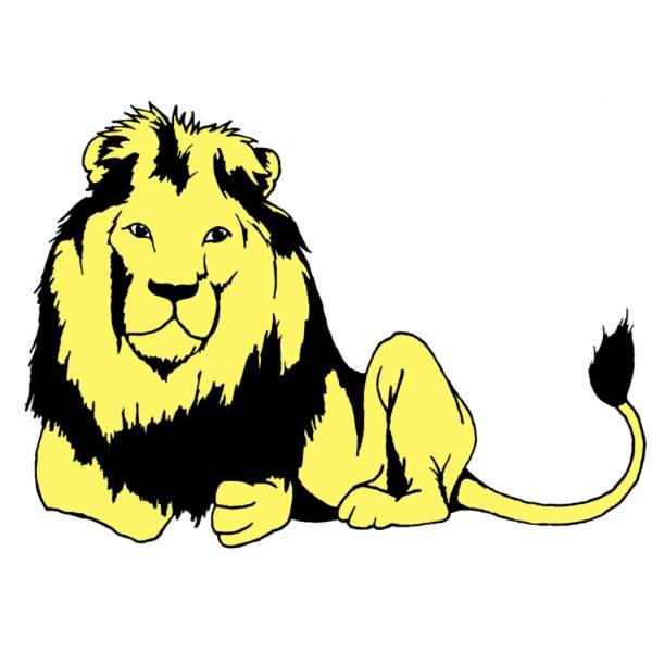 Disegno di Leone che Riposa a colori