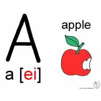 disegno di Lettera A Alfabeto Inglese a colori