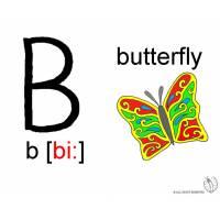 disegno di Lettera B Alfabeto Inglese a colori