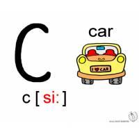 disegno di Lettera C Alfabeto Inglese a colori