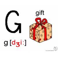 disegno di Lettera G Alfabeto Inglese a colori