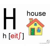 disegno di Lettera H Alfabeto Inglese a colori